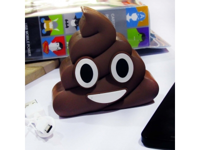 Power Bank Emoji Poop Coklat