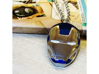 Kalung Iron Man Head Blue Mask