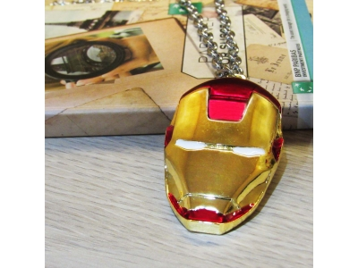 Kalung Iron Man Head Red Mask