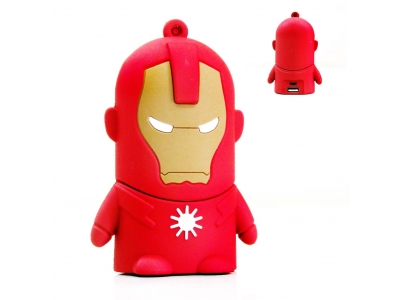 Power Bank Flat Chara iron Man