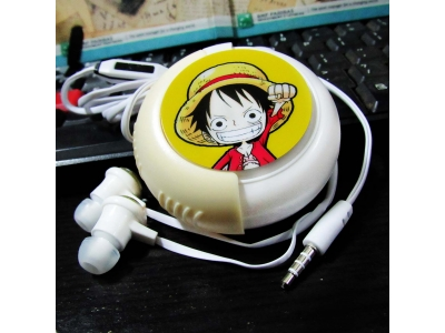 Earphone With Case Luffy Chibi