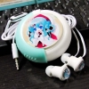 Earphone With Case Miku Green