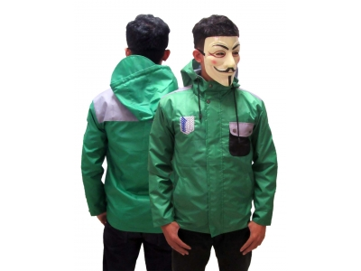Jaket Mayer Attack On Titan (waterproof) XL
