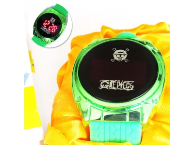 Jam Tangan LED One Piece Hijau (new)